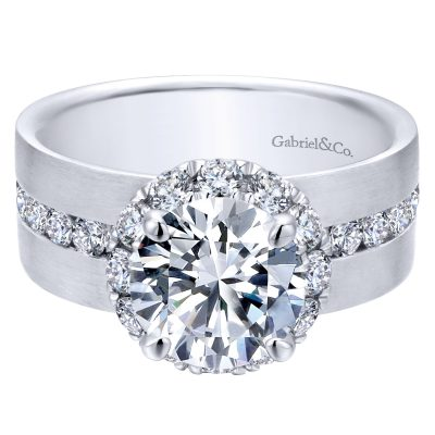 Halo Diamond Engagement Rings-Wedding Bands & Rings-Greis Jewelers